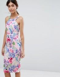 Paper Dolls Midi Dress in Pretty Floral - Multi