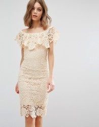 Paper Dolls Off Shoulder Midi Dress - Cream