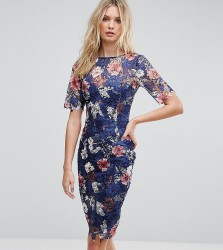 Paper Dolls Tall All Over Printed Floral Lace Pencil Dress - Multi