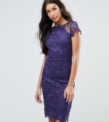 Paper Dolls Tall Cap Sleeve Lace Dress - Purple