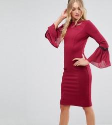 Paper Dolls Tall Long Sleeve Midi Dress - Red