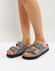 Papillio by Birkenstock Arizona Birko Leo White Platform Sandals - White