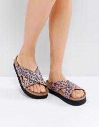 Papillio by Birkenstock Daytona Birko Leo Coral Platform Sandals - Multi
