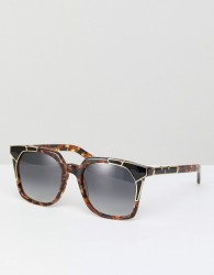Pared Square Sunglasses In Tort - Brown