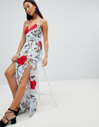 Parisian Floral Maxi Dress - Multi