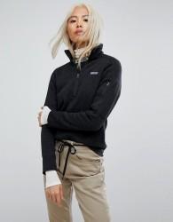 Patagonia Better Sweater Half Zip Jacket In Black - Black
