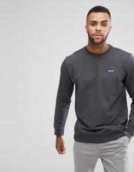 Patagonia Crew Neck Sweatshirt With P-6 Label in Black Marl - Black
