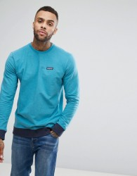 Patagonia Crew Neck Sweatshirt With P-6 Label in Blue Marl - Blue