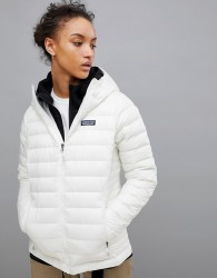 Patagonia Down Sweater Hoody Jacket In White - White