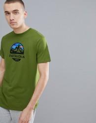 Patagonia Fitz Roy Scope Print Slim Fit T-Shirt Organic in Green - Green