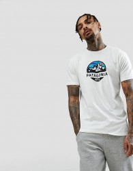 Patagonia Fitz Roy Scope Print Slim Fit T-Shirt Organic in White - White