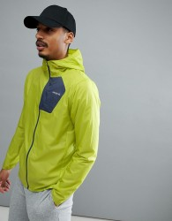 Patagonia Houdini Packable Hooded Running Jacket Slim Fit Lightweight in Light Gecko Green - Green