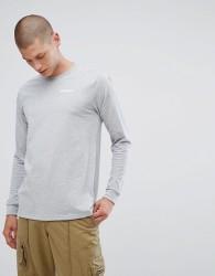 Patagonia Long Sleeve Top With Logo Sleeve Print in Grey - Grey