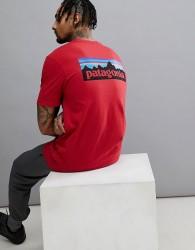 Patagonia P-6 Back Logo Pocket Responsibili-Tee T-Shirt in Red - Red