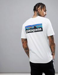 Patagonia P-6 Back Logo Responsibili-Tee T-Shirt in White - White