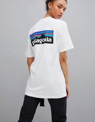 Patagonia P-6 Back Logo T-Shirt in White - White