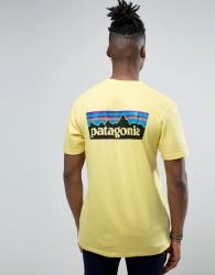Patagonia P-6 Back Logo T-Shirt Regular Fit in Yellow - Yellow