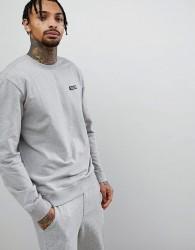 Patagonia P-6 Label Logo Crew Neck Sweatshirt in Grey Marl - Grey