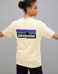 Patagonia P-6 Logo T-Shirt in Lemon - Yellow