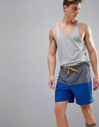 Patagonia Stretch Wavefarer Volley Swim Shorts Printed in Blue - Blue