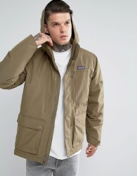 Patagonia Topley Parka Jacket Detachable Hood Down Insulated in Green - Green