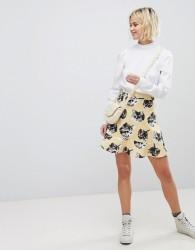 Paul & Joe Sister Cat Print Mini Skirt - Grey
