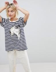 Paul & Joe Sister Cat Print T-Shirt - Navy