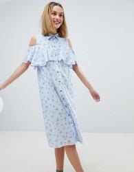 Paul & Joe Sister Ditsy Print Frill Dress - Blue