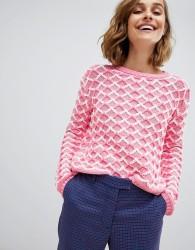 Paul & Joe Sister fancy stitch jumper - Pink