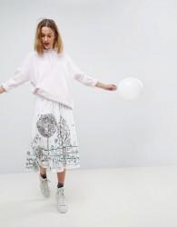 Paul & Joe Sister Graphic Print Midi Skirt - White