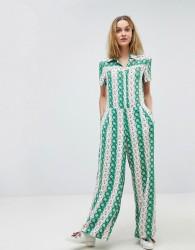 Paul & Joe Sister Retro Floral Bloom Jumpsuit - Green