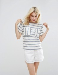Paul & Joe Sister Stripe Top - White