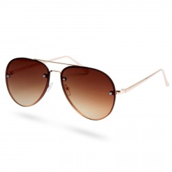 Paul Riley Guld & Brune Aviator Solbriller
