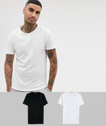 Paul Smith 2 pack lounge t-shirts in black/white - Black