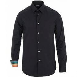 Paul Smith Cotton Stretch Cut Away Contrast Shirt Navy