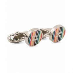 Paul Smith Enamel Button Cufflinks Multi
