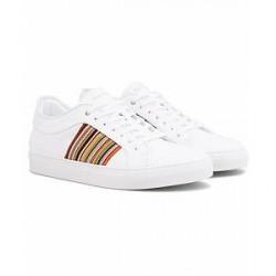 Paul Smith Ivo Leather Stripe Sneaker White