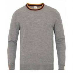 Paul Smith Merino Stripe Crew Neck Pullover Grey