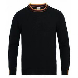 Paul Smith Merino Stripe Crew Neck Pullover Navy