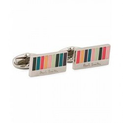 Paul Smith Ministripe Cufflinks with Logo Multi