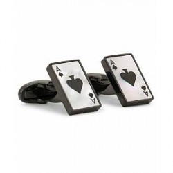 Paul Smith Mother of Pearl Ace of Spade Cufflinks Copper