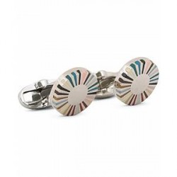 Paul Smith Multi Stripe Edge Cufflinks Multi