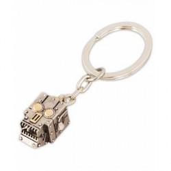 Paul Smith Robot Head Keyring Silver