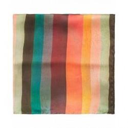 Paul Smith Silk Stripe Pocket Square Multi
