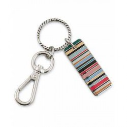 Paul Smith Stripe Tag Keyring Multi