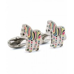 Paul Smith Striped Zebra Cufflinks Multi