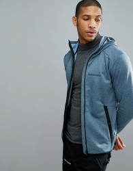 Peak Performance Fleece Half Zip Fleck Sweat In Blue - Blue