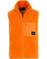 Peak Performance Fleece Vest Orange men XL