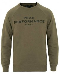 Peak Performance Logo Crew Neck Sweatshirt Forrest Night men S