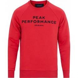 Peak Performance Logo Crew Neck Sweatshirt Red
